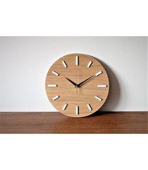 30 cm, zegar ścienny dąb, nowoczesny zegar