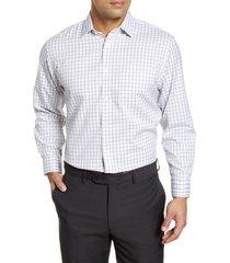 men's big & tall nordstrom men's shop smartcare(tm) traditional fit check dress shirt, size 18.5 - 38/39 - grey