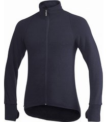 woolpower vest unisex full zip jacket 600 dark navy-m