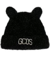 gcds crystal logo embellished beanie