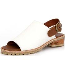 sandalia cuero aires artemia blanca cafe kebba