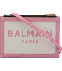 balmain canvas mini pouch
