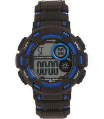 reloj negro-azul virox