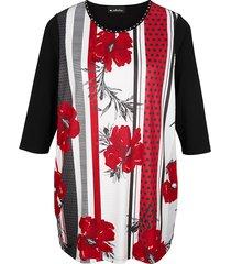 lång topp m. collection svart::röd::grå::vit
