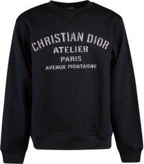 christian dior logo print sweatshirt