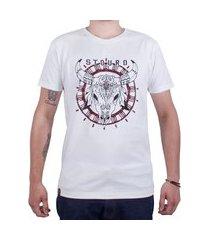 camiseta mandala touro - off white
