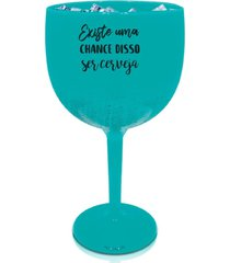 2 taã§as gin azul tiffany personalizada para live - azul - dafiti