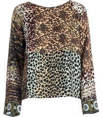 pierre-louis mascia t-shirt silk animalier