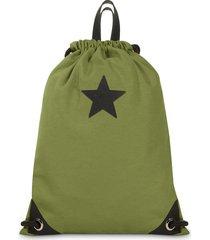 mochila verde mooka flow star