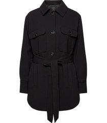 coat nellie trenchcoat lange jas zwart lindex