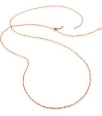 """rolo chain 32""""/81cm with adjuster, rose gold vermeil on silver"""