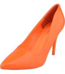 zapato formal dorothy naranja weide
