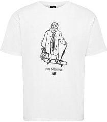 nb athletics n graph skate t t-shirts short-sleeved vit new balance