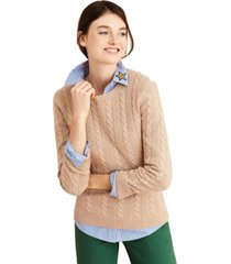 chaleco cable-knit cashmere beige brooks brothers