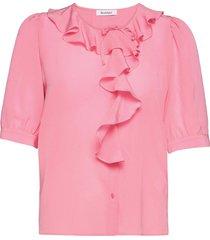 rodebjer xilla silk blouses short-sleeved roze rodebjer