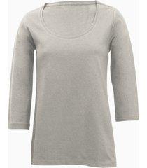 shirt met ronde hals voor haar, grijs 36