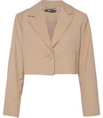 linda cropped blazer blazers casual blazers rosa gina tricot