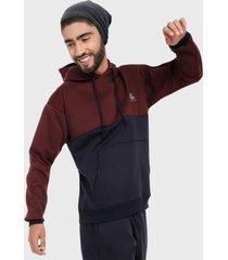 buzo hoodie para hombre vinotinto azul corte inglés