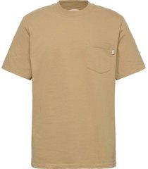 bobby pocket t-shirt t-shirts short-sleeved beige wood wood
