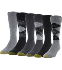 gold toe men's 6-pack campbell argyle socks