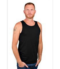 rj bodywear men singlet black