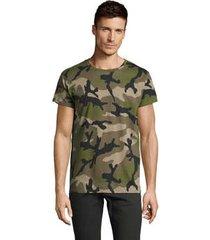 t-shirt korte mouw sols camouflage design men