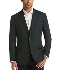 awearness kenneth cole teal check slim fit sport coat