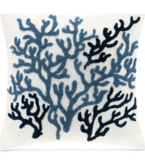 """harbor house beach house embroidered 18"""" square decorative pillow"""