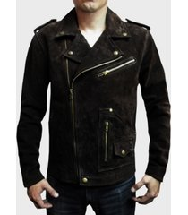 frye men's suede biker jacket