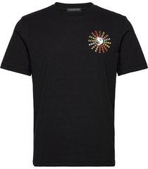 artwork tee in clean jersey quality t-shirts short-sleeved svart scotch & soda