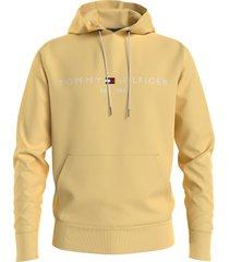 tommy hilfiger hoodie tommy logo geel rf mw0mw11599/zff