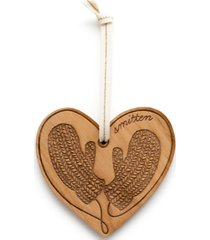 hereafter smitten mitten wooden ornament