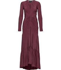 level bias dress maxi dress galajurk paars diana orving