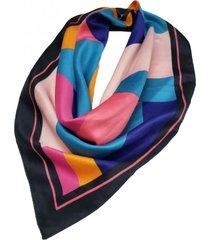 pañuelo negro  nuevas historias formas geometricas colores ba1303