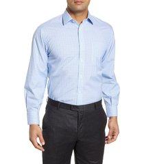 men's big & tall nordstrom men's shop smartcare(tm) classic fit check dress shirt, size 20 - 36/37 - blue