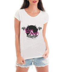 camiseta criativa urbana litoral praia - feminino