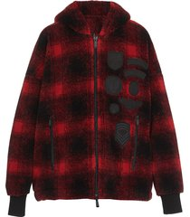 dsquared2 check patch hoodie
