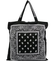 arizona love bandana-print tote bag - black
