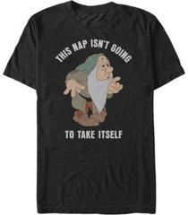 disney men's snow white and the seven dwarfs sleepy nap time, short sleeve t-shirt