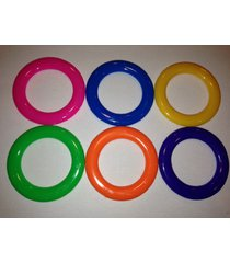 6 - carnival cane rack rings - toss soda liquor school party ring plastic throw
