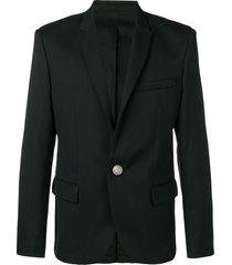 balmain classic single-breasted blazer - black