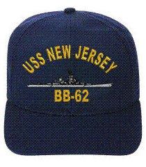 uss new jersey bb-62  ball cap ..new..ship hat