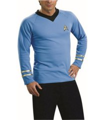 buyseason men's star trek classic deluxe blue shirt's costume