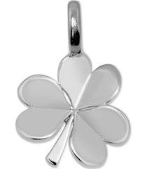 alex woo mini shamrock charm pendant in sterling silver