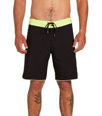 men's volcom barnacle stoney 19 board shorts, size 29 - black