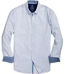 construct white & navy dot sport shirt