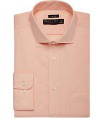 pronto uomo peach mini check dress shirt