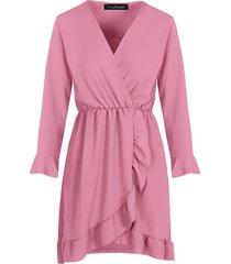 jurk met overslag oud roze