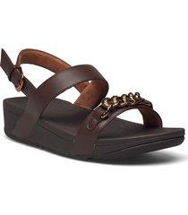 lottie chain back-strap sandals shoes summer shoes flat sandals brun fitflop