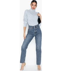 topshop mid blue dad jeans straight